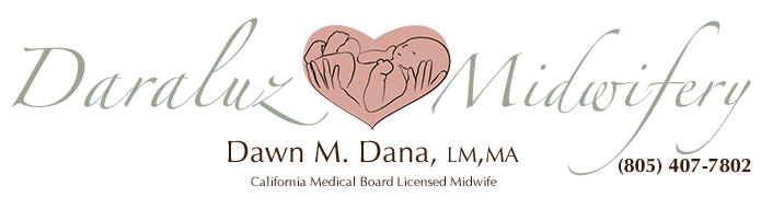 DaraLuz logo for Dawn Dana, certified midwife assisting homebirths in Ventura and Santa Barbara County